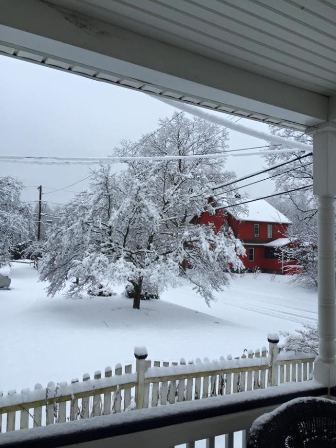 Snow fall in Stratfor, Connecticut