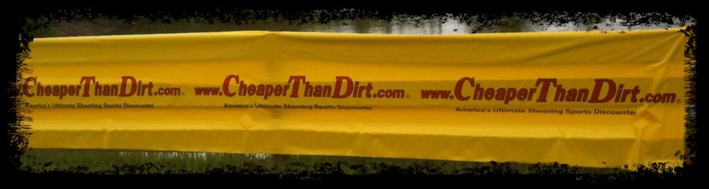 Cheaper Than Dirt! sponsor banner at 2011 ProAm