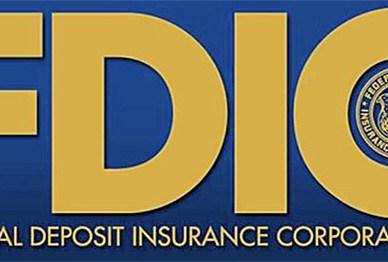 FDIC blue and yellow logo