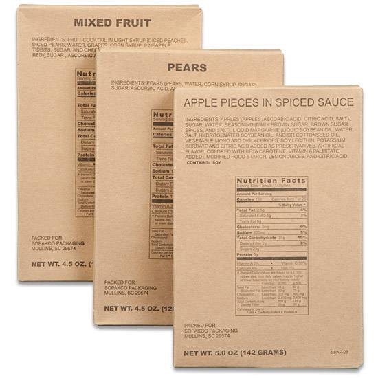 Rare Find! MRE Fruit 22 Individual Serving Pouches