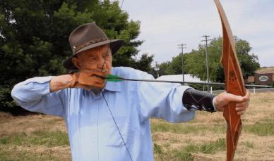 GAil Martin shooting the Dream Catcher recurve bow.