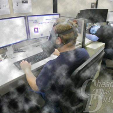 Testing Finnish gas mask at CTD