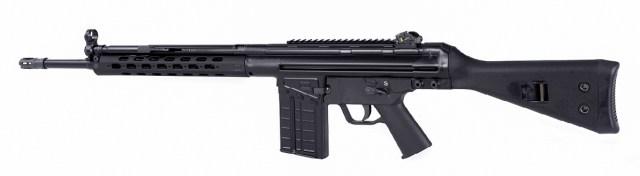Black PTR-91 rifle