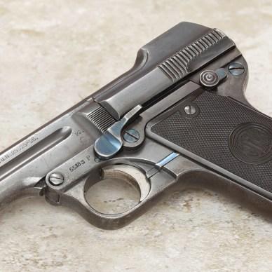 1908 Steyr-Pieper .32 tip-barrel pistol