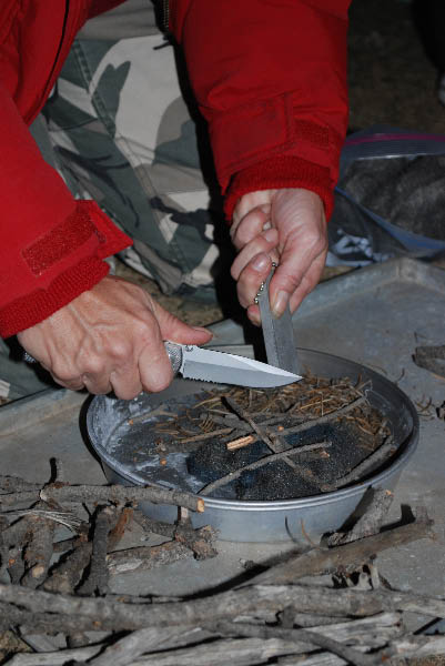 Making a Survival Fire