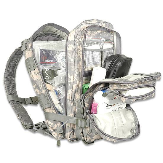 The medical tactical trauma kit works well as is or as a stand-alone backpack.