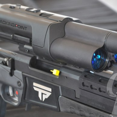 Tracking Point Rifle Close up of Scope