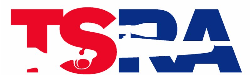 Texas State Rifle Association red, white and blue logo