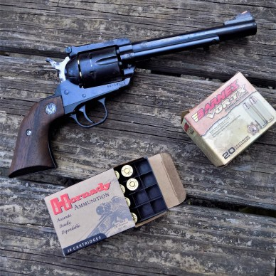 Ruger Blackhawk .41 Magnum with ammunition boxes