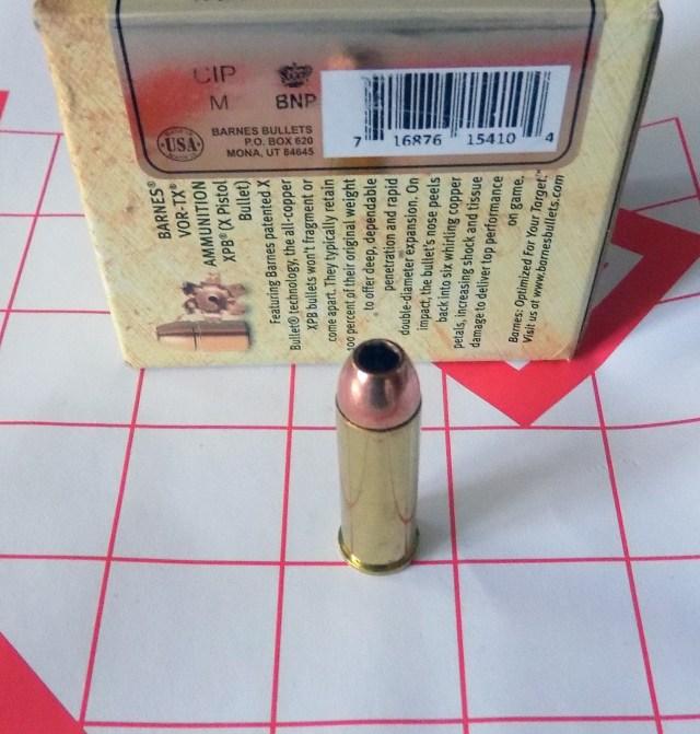 Barnes hollowpoint bullet