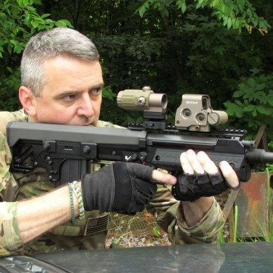Will Dabbs shooting the Kel-Tec RFB