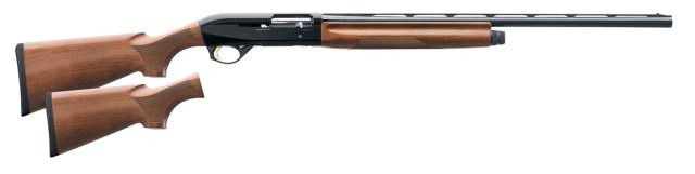 Benelli Montefeltro with wood stock right profile
