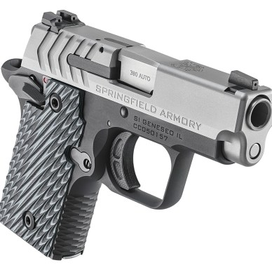 Springfield 911 .380 ACP pistol with stainless steel slide