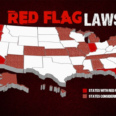 Map of current and proposed red flag laws states