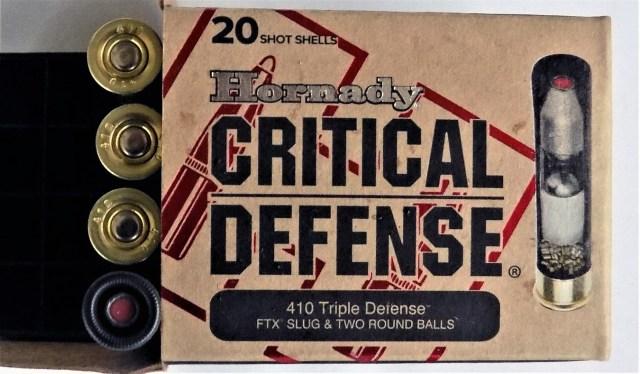 Hornady Triple Defense ammunition box