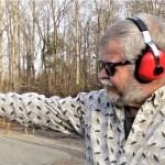 Bob Campbell shooting the Browning Buckmark .22 LR pistol one handed