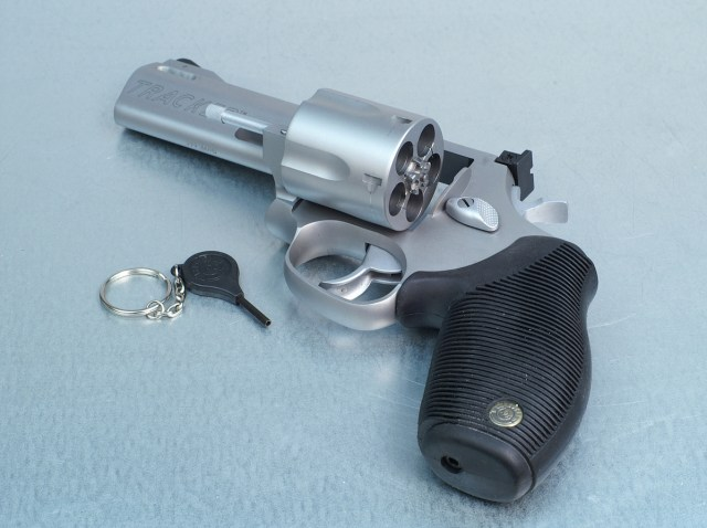 Taurus 44 Tracker revolver with security lock key