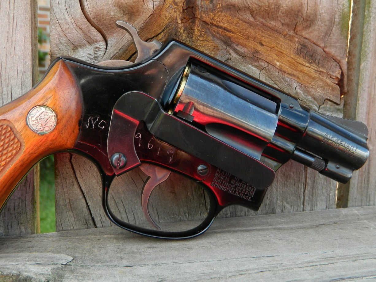 Smith and Wesson Airweight revolver right profile