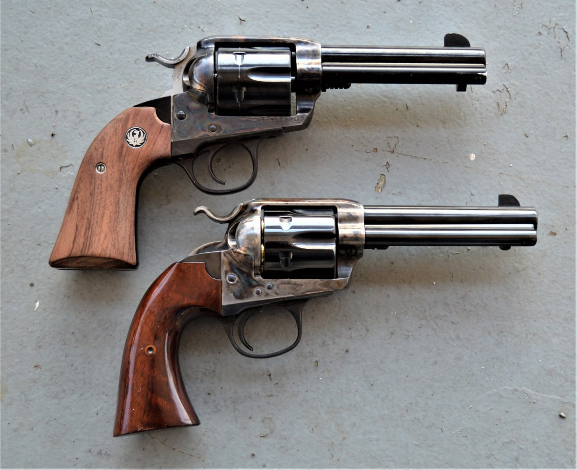 Ruger revolver top, isley revolver with thinner grip bottom