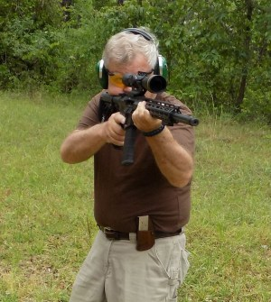 Bob Campbell shooting an AR-15 rifle chambered in .224 Valkyrie