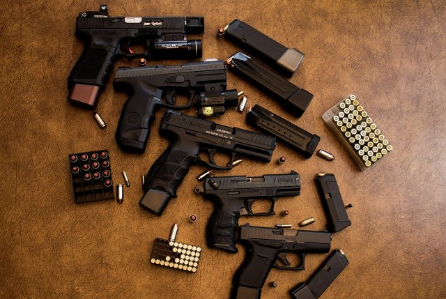 guns, ammo and mags