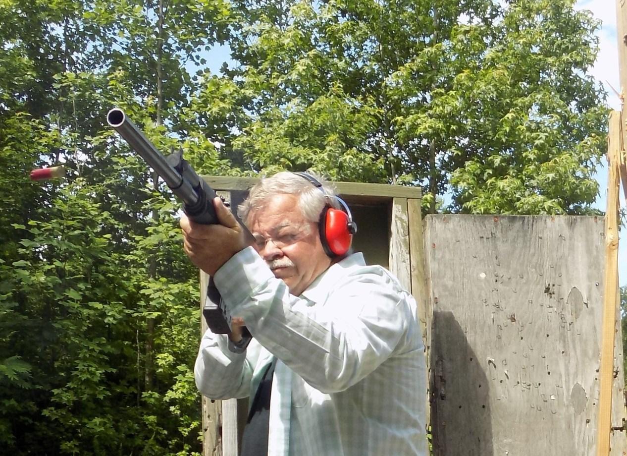 Home defense shotgun practice