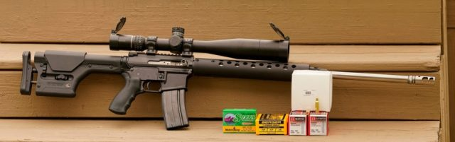 AR-15 rifle and ammo