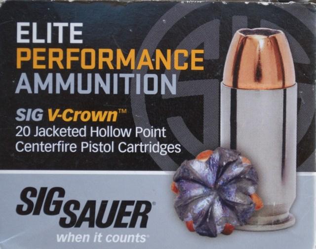 SIG Sauer Elite .45 ACP ammunition