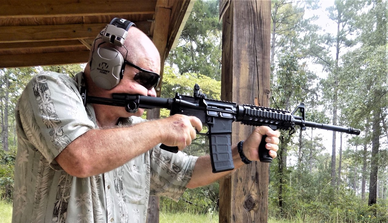 offhand shooting - iron sights