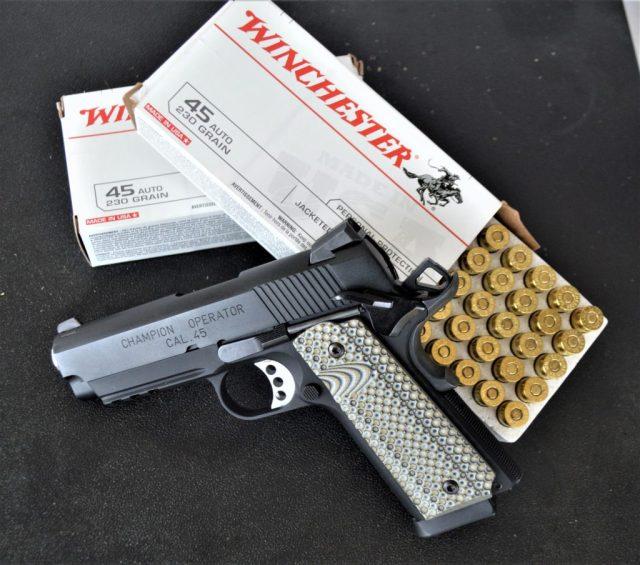 winchester ammo - handgun weight
