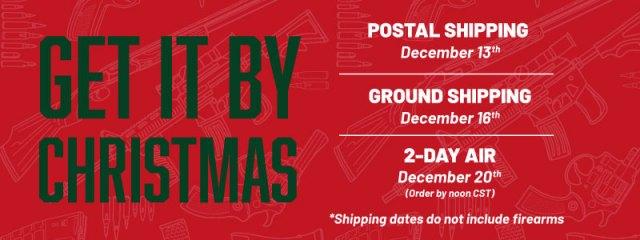firearm shipping - christmas cutoffs