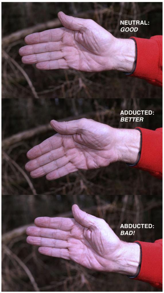 managing recoil tips - wrist angle