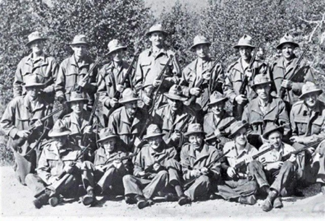 World War Two Canada Rangers Winchester .30-30 rifles.
