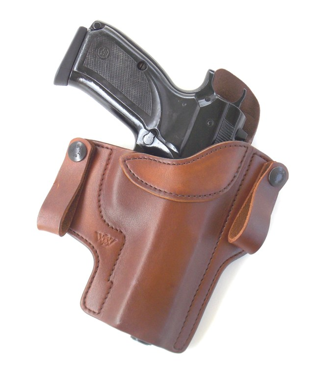 CZ 75 in Brown Leather Holster