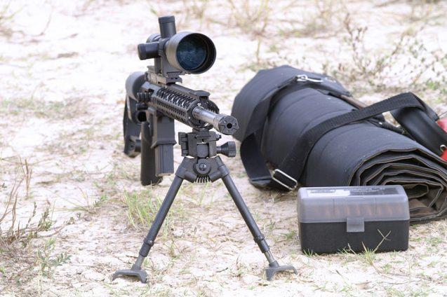Long-Range Rifle with Bipod