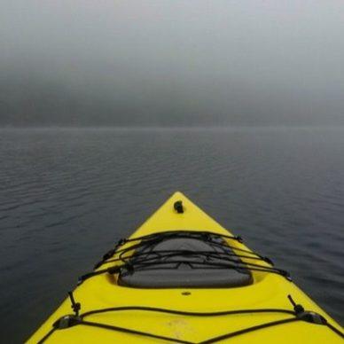 kayak hunting - front view