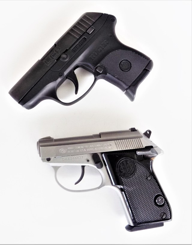 Beretta Tomcat and Ruger LCP
