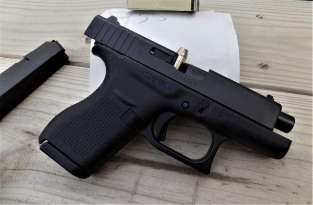 GLOCK pistol with malfunction