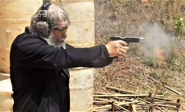 Man firing 1911