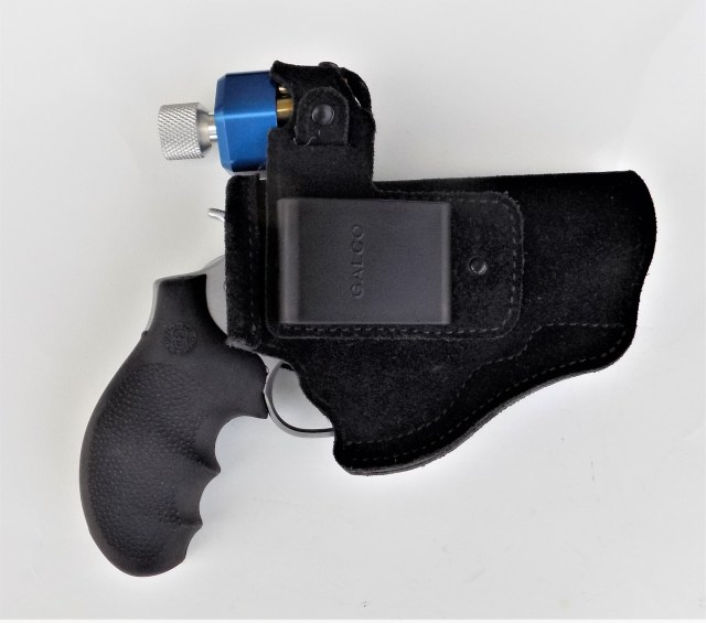 Galco Wraparound Belly Band Holster with Revolver and Speedloader