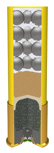 20-gauge shotgun shell cutaway