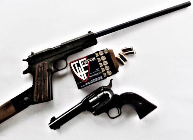 1911 pistol and revolver and .45 ACP Fiocchi Ammo