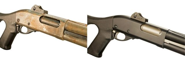 Two Shotgun Comparisons, left is rust and right is refinished