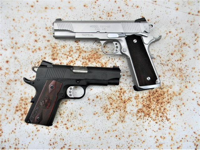 Springfield Officer's Model and Government Model 1911s