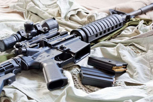 Ar-15 with mags and scope