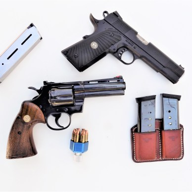 Wilson Combat and Colt Handguns fully-loaded