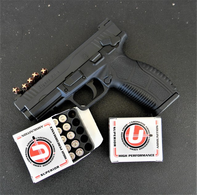 Underwood 9mm Loads with handgun