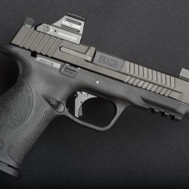 Smith and Wesson Pistol with Red Dot Gun Trends