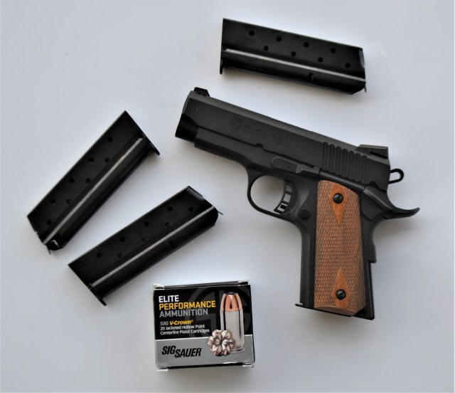 Citadel 9mm 1911, magazine and SIG ammo inexpensive firearms