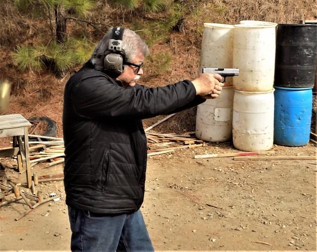 Man shooting GLOCK Pistol